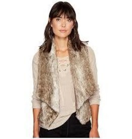 BB Dakota Dwight Taupe Fur Vest