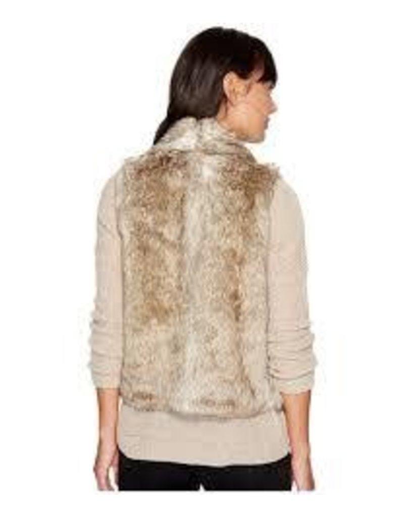 BB Dakota Dwight Taupe Fur Vest
