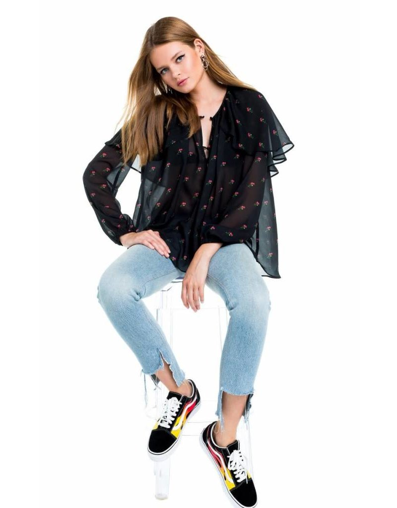 Wildfox Couture Bethany Tunic in Rosebuds