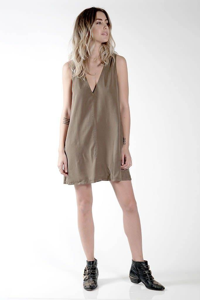 Knot Sisters Nadine Dress Military Green