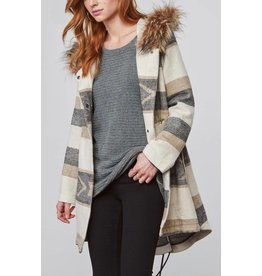 BB Dakota Ryker Faux Fur Hooded Coat