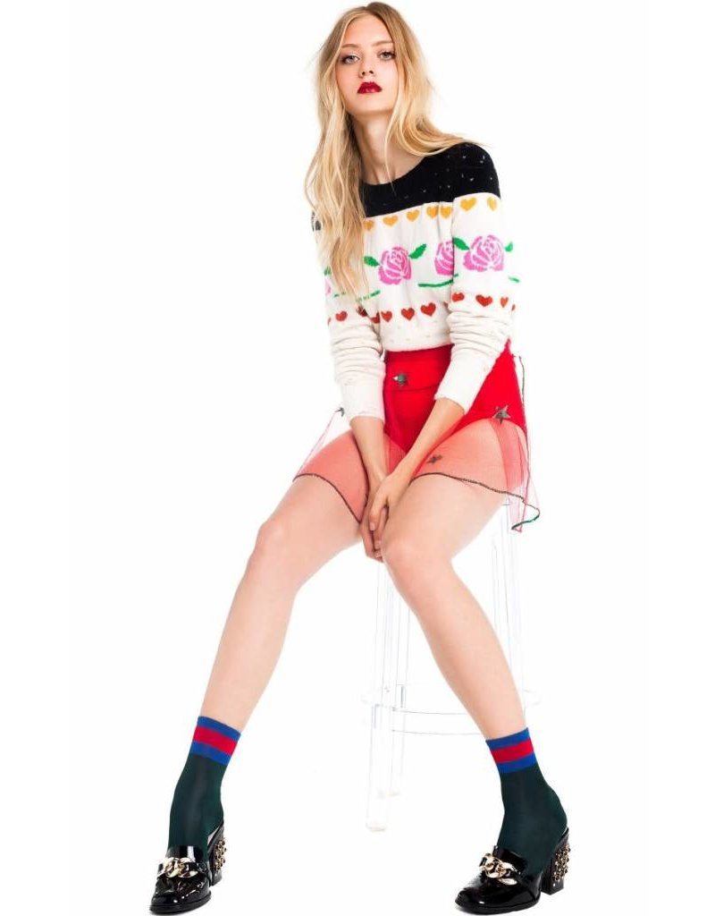 Wildfox Couture Rose Fair Isle Shining Sweater