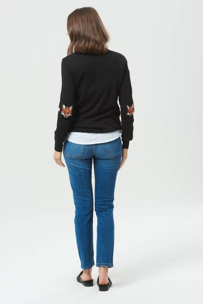 Sugarhill Boutique Deana Fox Elbow Patches Sweater