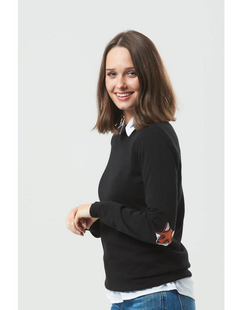 Sugarhill Boutique Deana Fox Elbow Patches Sweater