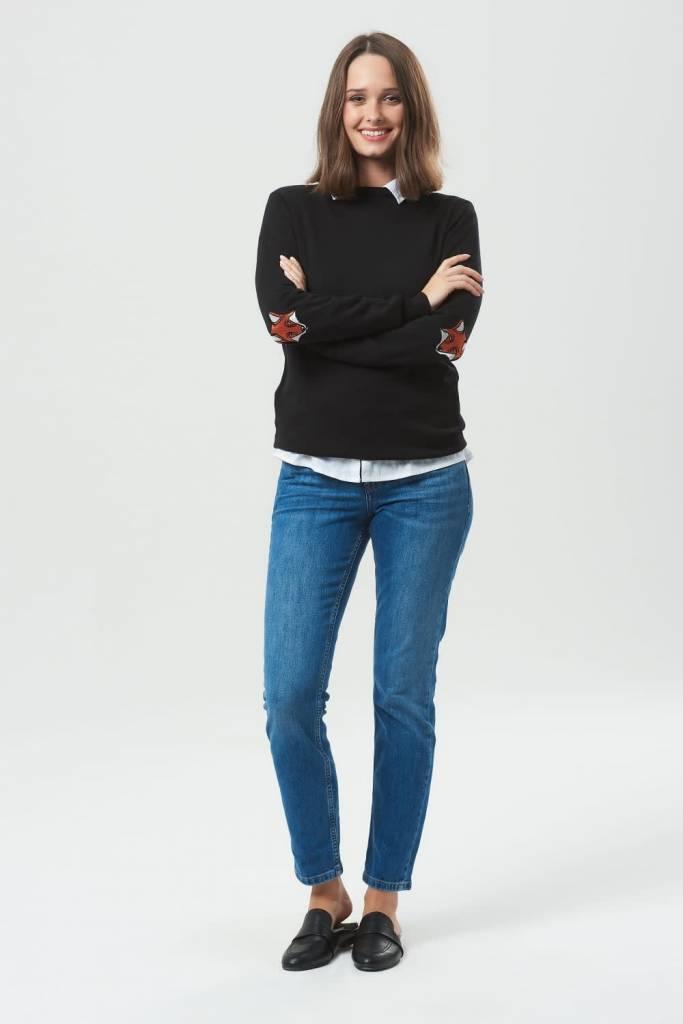 Sugarhill Brighton Deana Fox Elbow Patches Sweater