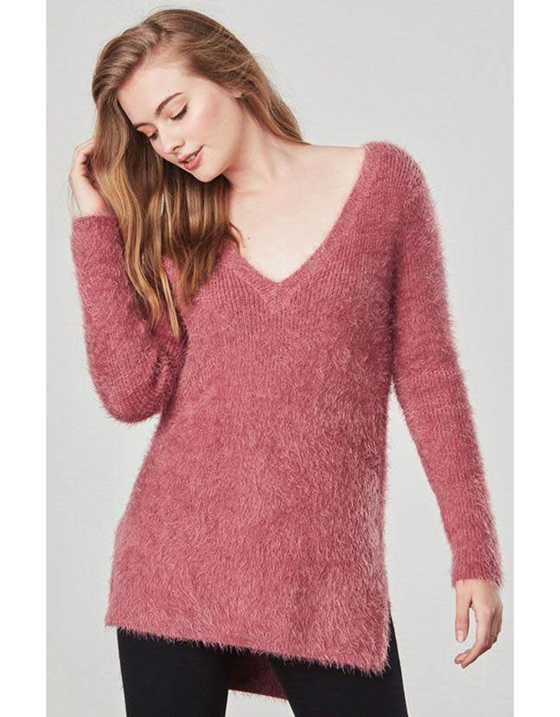 Jack by BB Dakota Pam Deep V Sweater