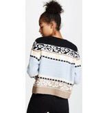 Wildfox Couture Bunny Fair Isle Sweater