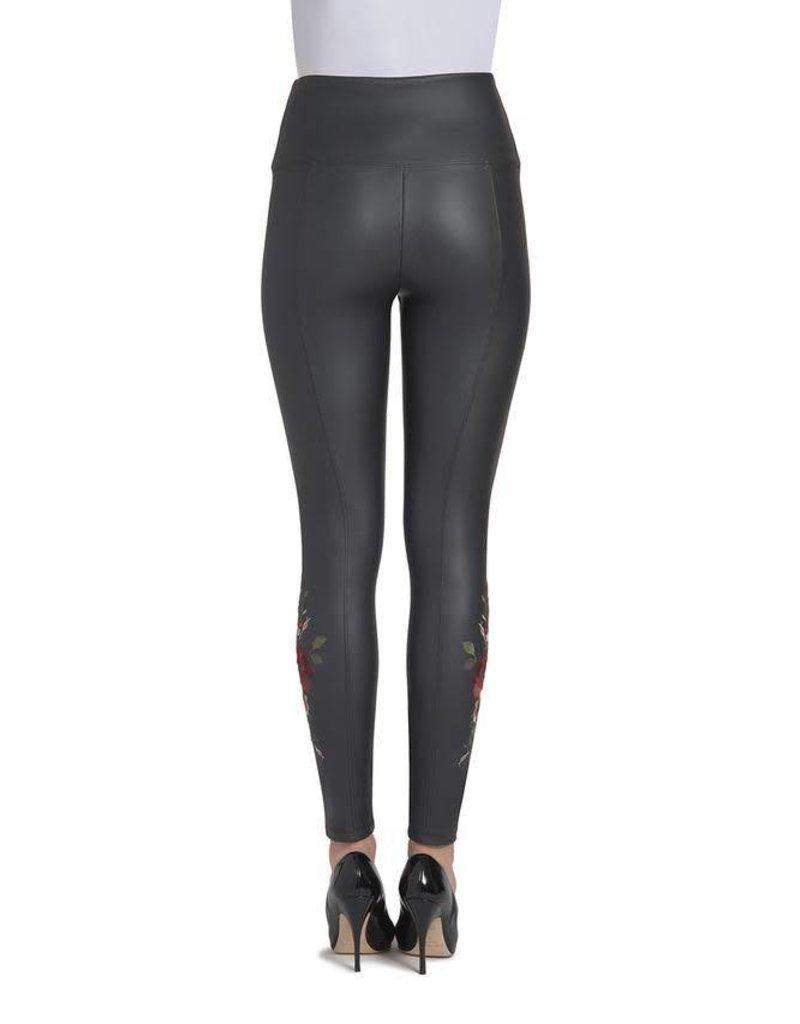 Lysse Embroidered Vegan Black Legging