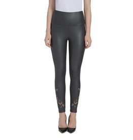Lysse Embroidered Vegan Black Legging