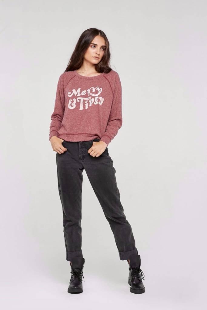 Project Social T Merry & Tipsy Sweatshirt
