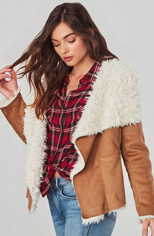Jack by BB Dakota Fawn Shearling Jacket