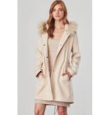 BB Dakota Colin Fur Trim Coat