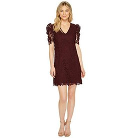 Donna Morgan Grace Wine Lace Dress