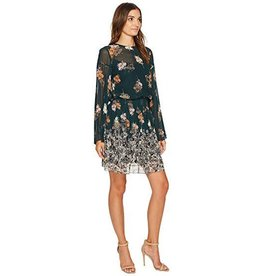 Donna Morgan Vivienne Green Floral Dress
