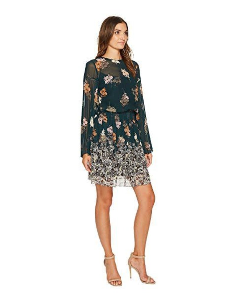 Donna Morgan Vivienne Green Floral Dress