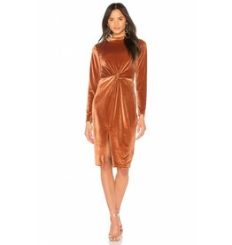 MINKPINK Canyon Velvet Twist Dress