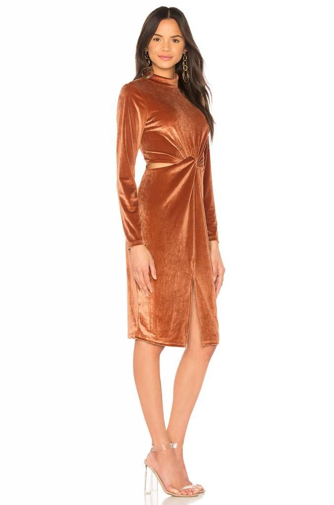 MINKPINK Canyon Velvet Twist Dress