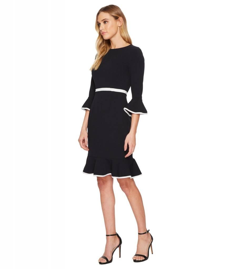 Donna Morgan Eva Navy Dress