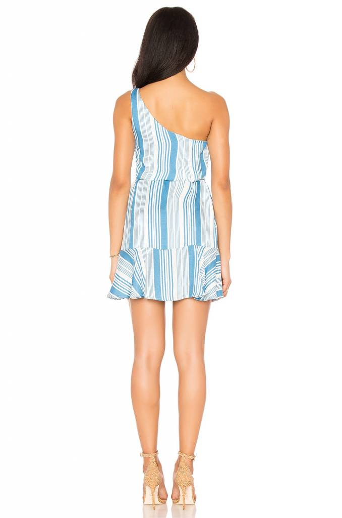 MINKPINK One Shoulder Stripe Dress
