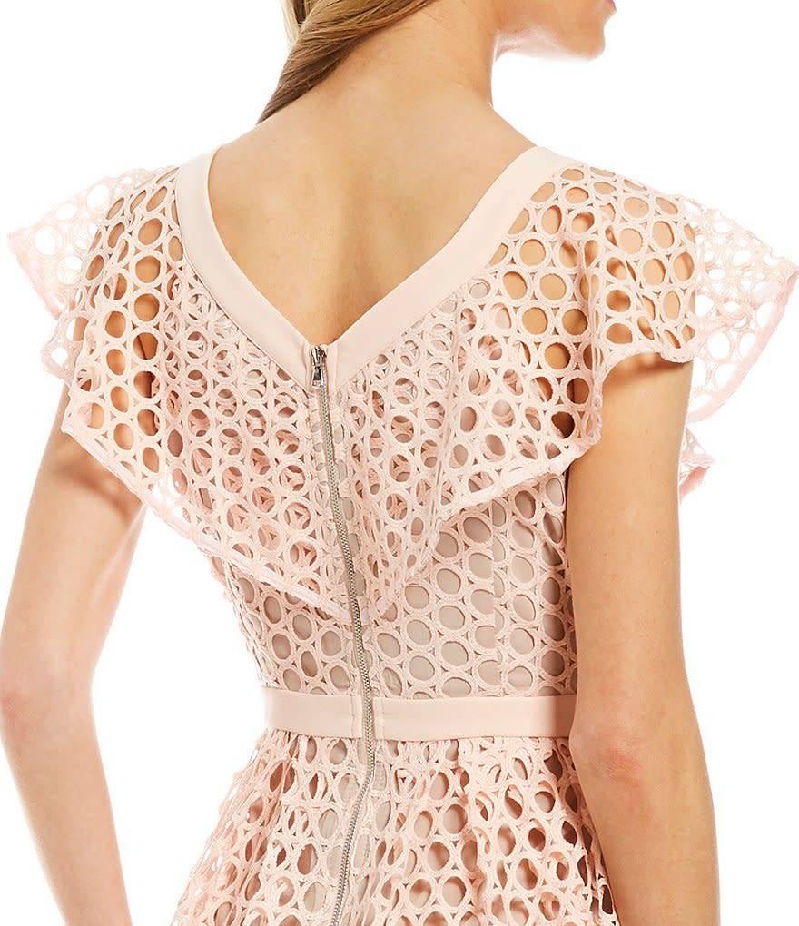 Donna Morgan Kaylee Pink/Yellow Dress