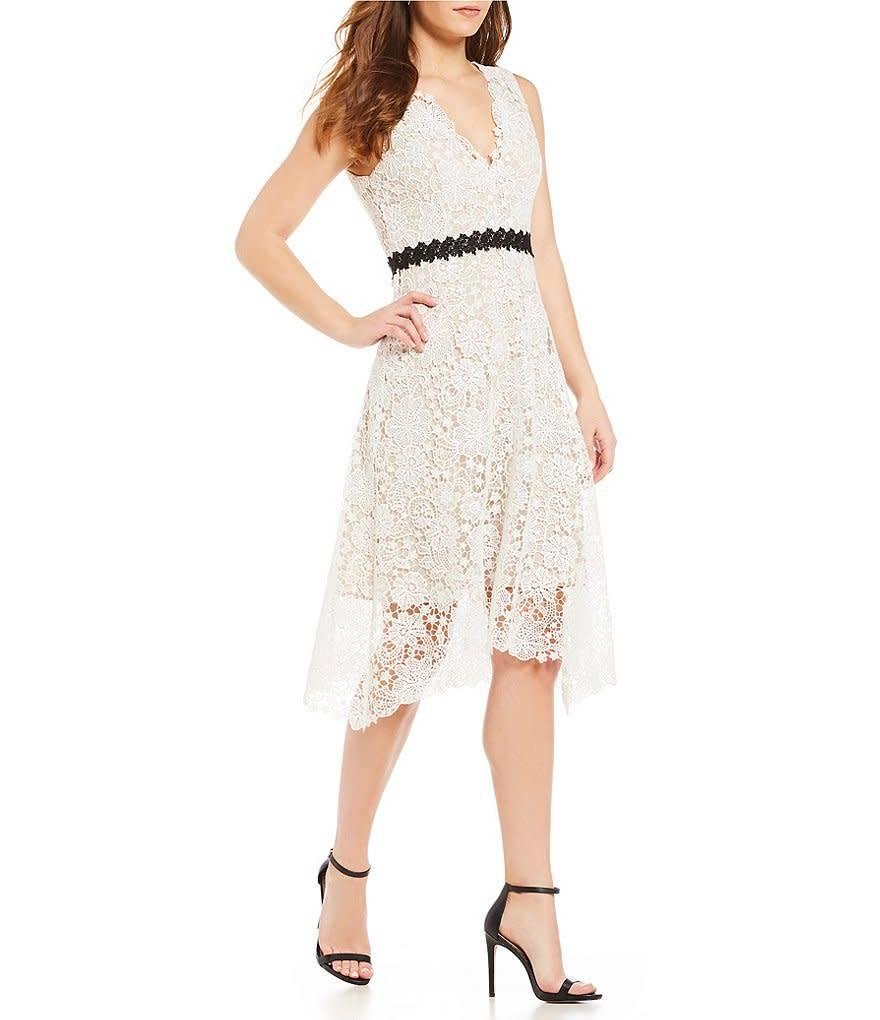 Donna Morgan Juliette White Lace Dress