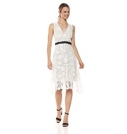 Donna Morgan Juliette White Lace Dress