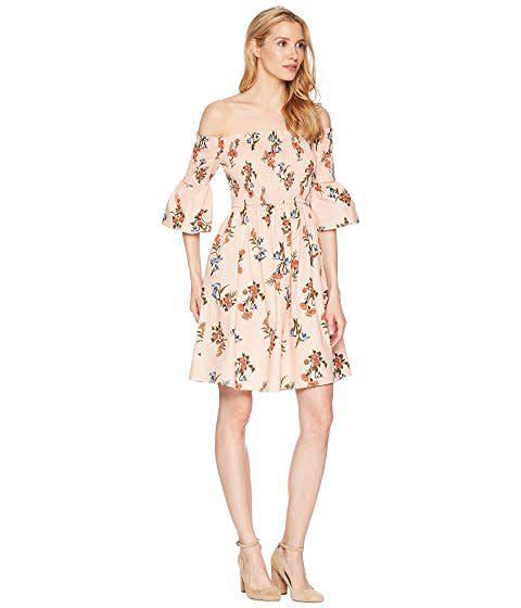 Donna Morgan Iris Off the Shoulder Dress