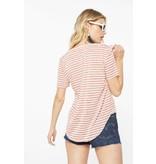 Project Social T Suzie Shirtail Tee Blush/Ivory