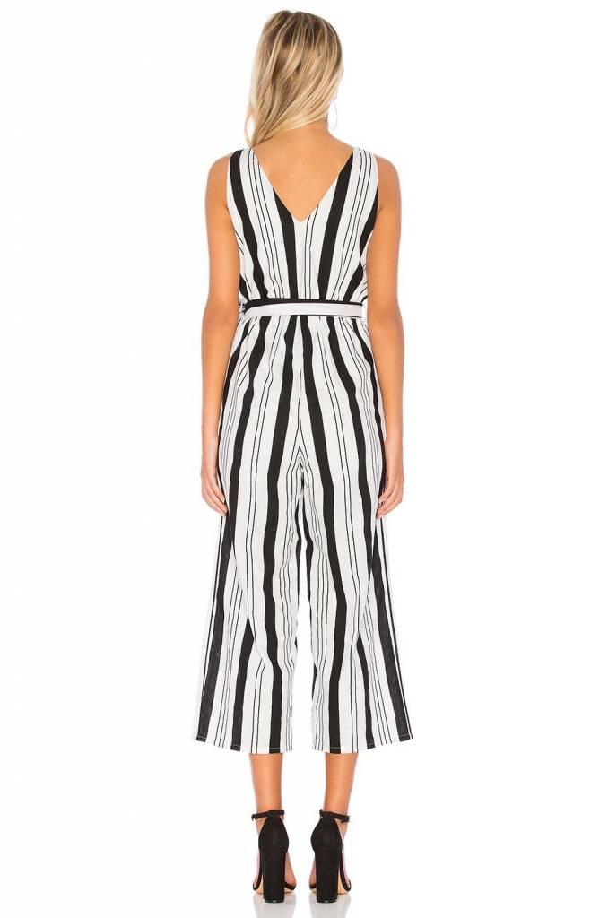 MINKPINK Stripe Linen Jumpsuit