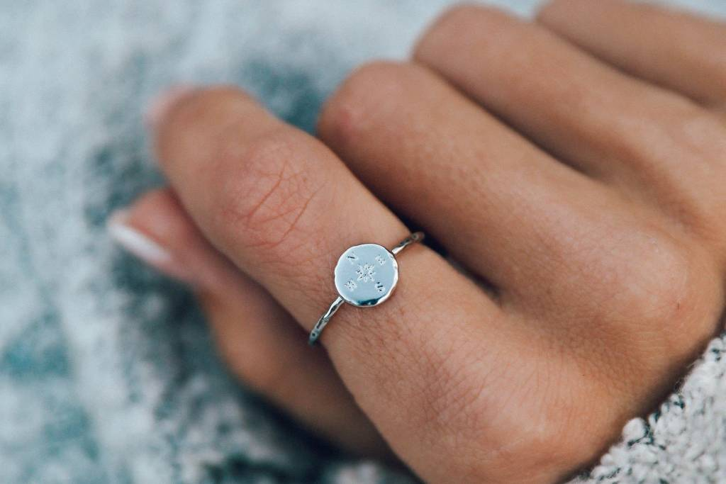 Pura Vida Silver Compass Ring