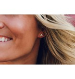 Pura Vida Wave Stud Earrings Silver