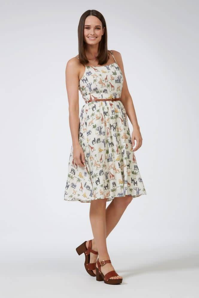 Sugarhill Brighton Hannah Wild Animals Sundress