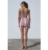 MINKPINK Stripe Strapless Ra-Ra Dress