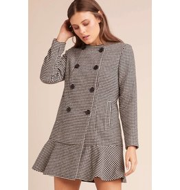 BB Dakota What's Your Damage Houndstooth Coat