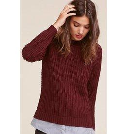 BB Dakota Back at it Shirt Tail Sweater