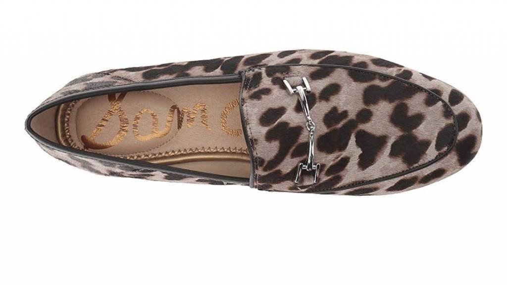 Sam Edelman Loraine Grey Leopard Loafer