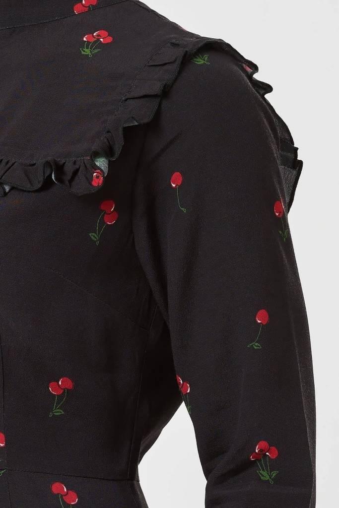 Sugarhill Brighton Lolita Winterberry Cherry Frill Dress