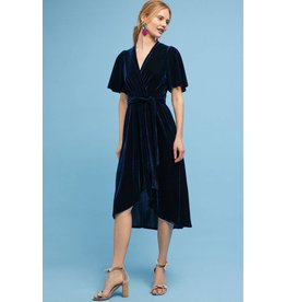 Donna Morgan Saphire Blue Velvet Dress