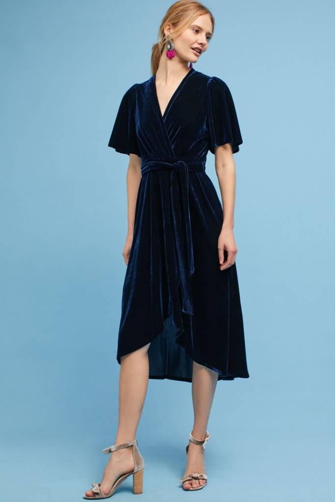 Donna Morgan Saphire Blue Velvet Dress