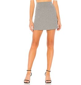 MINKPINK Houndstooth Mini Skirt