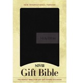 NIV Gift Bible Leathersoft Black/Gray
