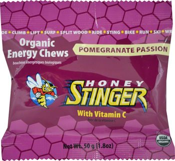 Honey Stinger Organic Energy Chews: Orange, Box of 12 single