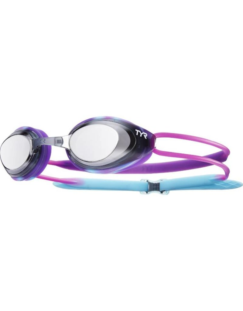 TYR Black Hawk Racing Mirrored Junior Goggle