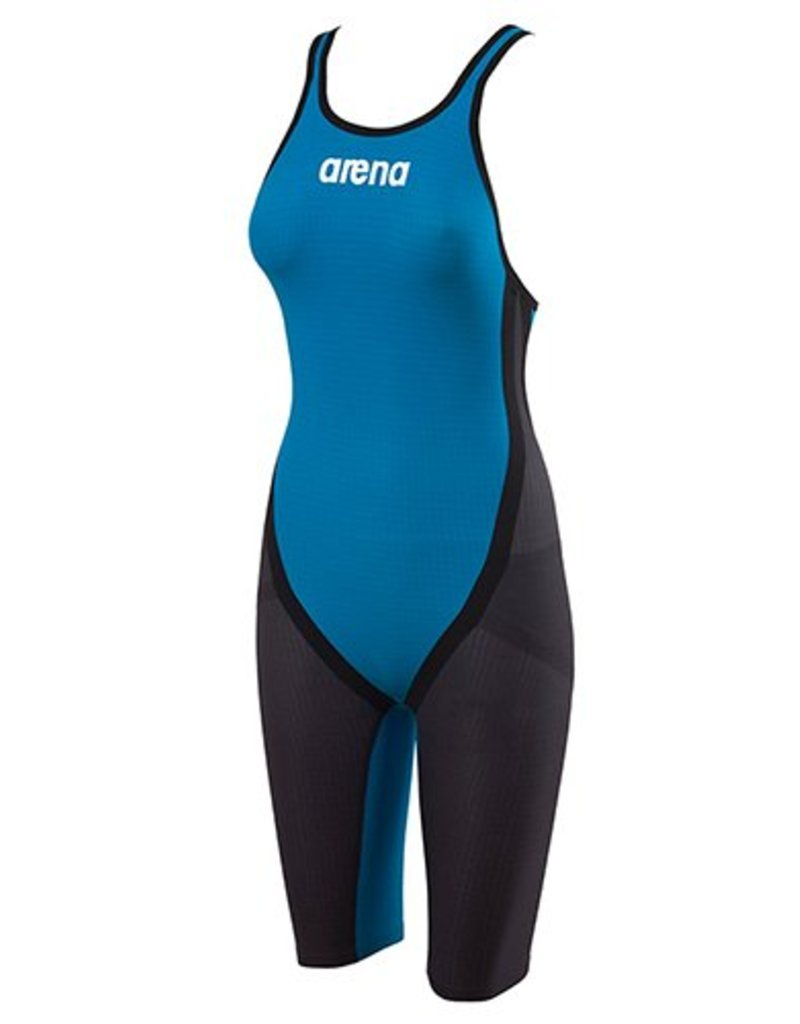 Arena Carbon Flex OB Kneeskin / Grey-Cyan 32