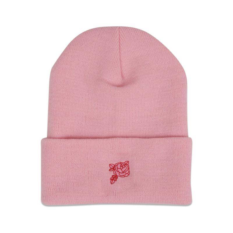 Primitive Rose Knit Beanie