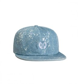 HUF Bleached Denim Crest 6 Panel