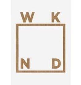 WKND WV Logo Deck White 8.25