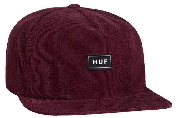 HUF Corduroy Bar Logo Snapback