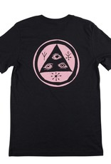 Welcome Skateboards Talisman Tee Vintage Black/Pink