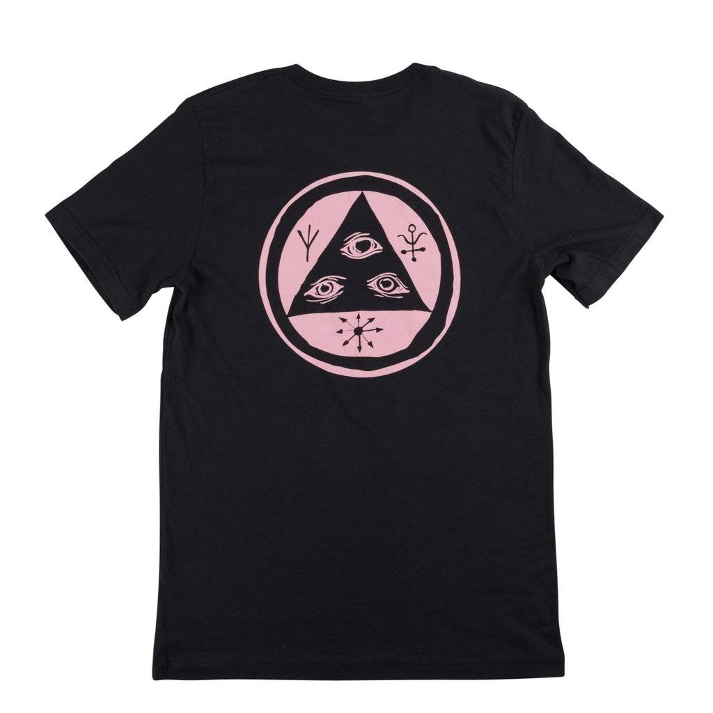 Welcome Skateboards Talisman Tee Vintage Black/Pink